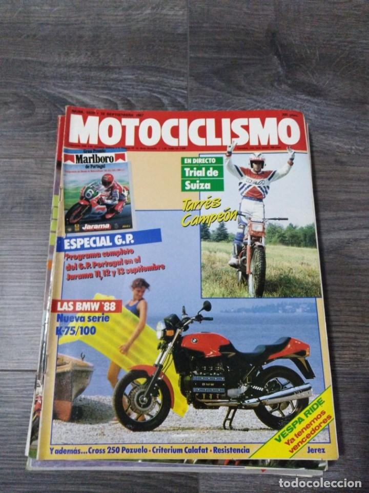 LOTE DE 9 REVISTAS MOTOCICLISMO AÑO 1987 N°1020-1028 (Coches y Motocicletas - Revistas de Motos y Motocicletas)