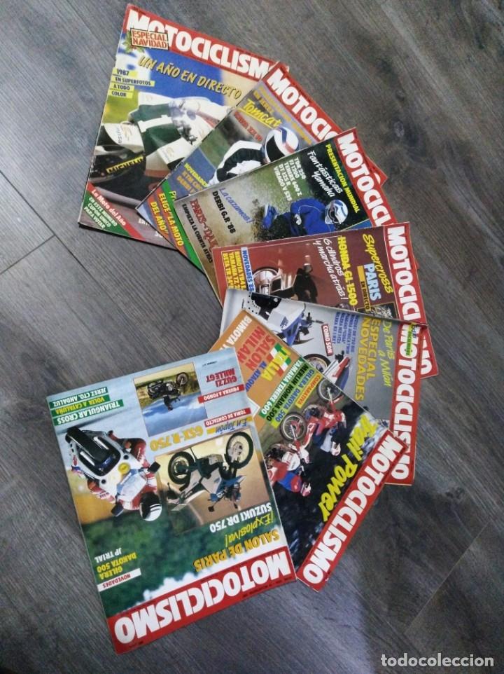 LOTE DE 7 REVISTAS MOTOCICLISMO AÑO 1987 N°1030-1036 (Coches y Motocicletas - Revistas de Motos y Motocicletas)