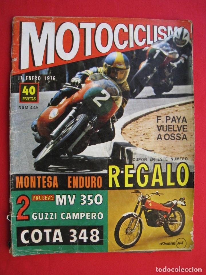 REVISTA MOTOCICLISMO - Nº 445 - 17 ENERO 1976. (Coches y Motocicletas - Revistas de Motos y Motocicletas)