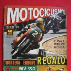 Coches y Motocicletas: REVISTA MOTOCICLISMO - Nº 445 - 17 ENERO 1976.. Lote 174257433