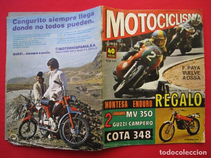 Coches y Motocicletas: REVISTA MOTOCICLISMO - Nº 445 - 17 ENERO 1976. - Foto 3 - 174257433