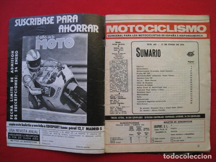 Coches y Motocicletas: REVISTA MOTOCICLISMO - Nº 445 - 17 ENERO 1976. - Foto 6 - 174257433