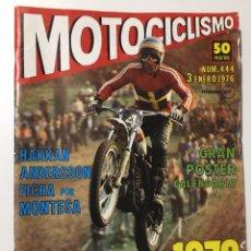 Coches y Motocicletas: REVISTA MOTOCICLISMO NÚMERO 444 ENERO DE 1976. Lote 174338458