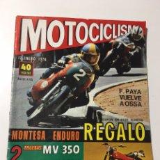 Coches y Motocicletas: ANTIGUA REVISTA MOTOCICLISMO 17 ENERO 1976 NÚMERO 445. Lote 174374824