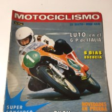 Coches y Motocicletas: ANTIGUA REVISTA MOTOCICLISMO 1976 NÚMERO 460. Lote 174377003