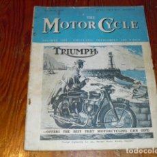 Coches y Motocicletas: THE MOTOR CYCLE - AÑO 1949 -. Lote 174538727
