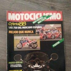 Coches y Motocicletas: REVISTA MOTOCICLISMO AÑO 1988 . Lote 175193138