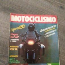 Coches y Motocicletas: REVISTA MOTOCICLISMO AÑO 1988 . Lote 175193314
