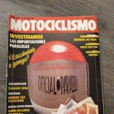 Coches y Motocicletas: REVISTA MOTOCICLISMO AÑO 1988 . Lote 175193523