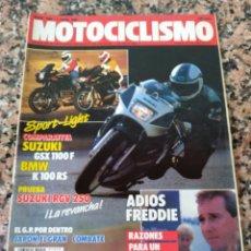 Coches y Motocicletas: REVISTA MOTOCICLISMO AÑO 1988 . Lote 175193707