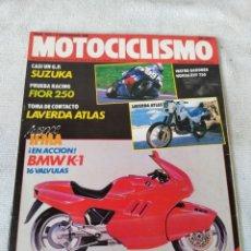 Coches y Motocicletas: REVISTA MOTOCICLISMO AÑO 1988 . Lote 175194593