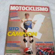 Coches y Motocicletas: REVISTA MOTOCICLISMO AÑO 1988 . Lote 175194705
