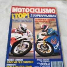 Coches y Motocicletas: REVISTA MOTOCICLISMO AÑO 1988. Lote 175196235
