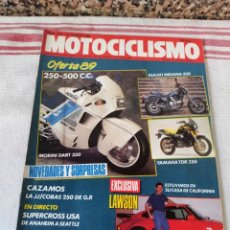 Coches y Motocicletas: REVISTA MOTOCICLISMO AÑO 1989. Lote 175197392