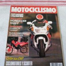Coches y Motocicletas: REVISTA MOTOCICLISMO AÑO 1989. Lote 175197417
