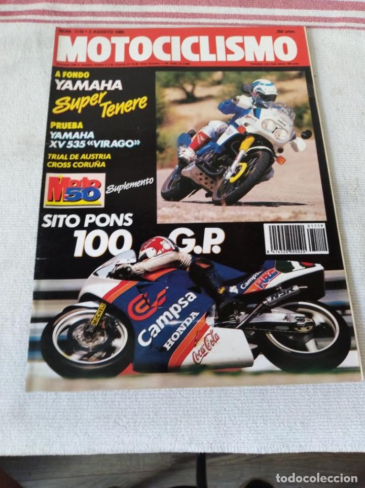 REVISTA MOTOCICLISMO AÑO 1989 (Coches y Motocicletas - Revistas de Motos y Motocicletas)