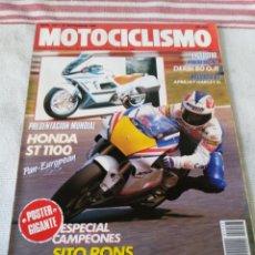 Coches y Motocicletas: REVISTA MOTOCICLISMO AÑO 1989. Lote 175198324