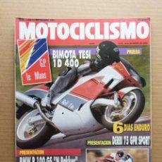 Coches y Motocicletas: MOTOCICLISMO 1229 HONDA YUPY 90 YAMAHA JOG PEUGEOT SV 125 BMW R 100 GS BIMOTA TESI 1D 400 . Lote 175217280
