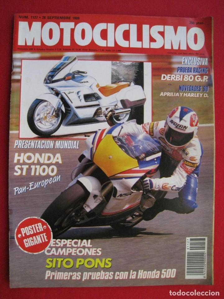REVISTA MOTOCICLISMO - Nº 1127 - 28 SEPTIEMBRE 1989 - POSTER SITO PONS. (Coches y Motocicletas - Revistas de Motos y Motocicletas)