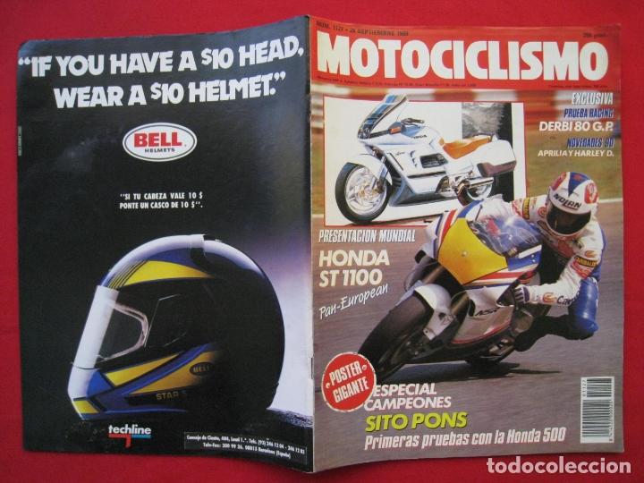 Coches y Motocicletas: REVISTA MOTOCICLISMO - Nº 1127 - 28 SEPTIEMBRE 1989 - POSTER SITO PONS. - Foto 3 - 175270463