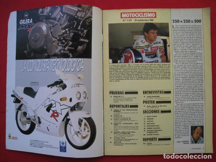 Coches y Motocicletas: REVISTA MOTOCICLISMO - Nº 1127 - 28 SEPTIEMBRE 1989 - POSTER SITO PONS. - Foto 4 - 175270463