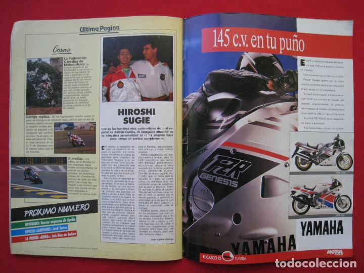 Coches y Motocicletas: REVISTA MOTOCICLISMO - Nº 1127 - 28 SEPTIEMBRE 1989 - POSTER SITO PONS. - Foto 14 - 175270463