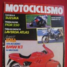 Coches y Motocicletas: REVISTA MOTOCICLISMO - Nº 1072 - 8 SEPTIEMBRE 1988 - POSTER ALEX CRIVILLE.. Lote 175284210