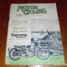 Coches y Motocicletas: MOTOR CYCLING Nº 2229 - OCTOBER 1952 -. Lote 175355309