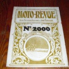 Coches y Motocicletas: MOTO REVUE Nº 2000 - 1971 -. Lote 175474309