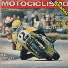 Coches y Motocicletas: REVISTA MOTOCICLISMO Nº 451 MARZO 1976 BULTACO MONTESA - POSTER CENTRAL JOHNNY CECOTTO. Lote 175722874
