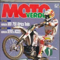 Coches y Motocicletas: REVISTA MOTO VERDE Nº 177 AÑO 1993. PRUEBA: HONDA XRV 750 AFRICA TWIN. SUZUKI DR 350. TM 80 E. . Lote 176017760