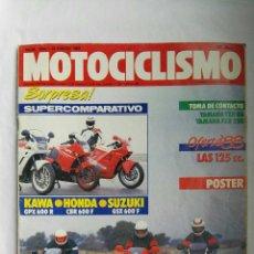 Coches y Motocicletas: REVISTA MOTOCICLISMO N° 1040 ENERO 1988. Lote 176062079