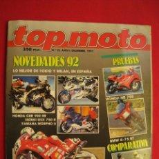 Carros e motociclos: REVISTA TOP MOTO - Nº 12 - DICIEMBRE 1991.. Lote 176269974