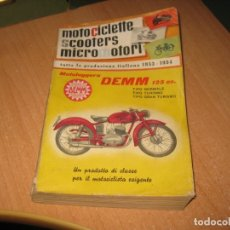 Coches y Motocicletas: LIBRO-CATALOGO MOTOCICLETTE SCOOTERS MICROMOTORI. Lote 176956479