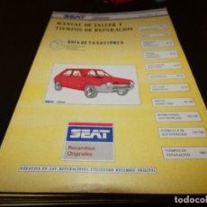 Coches y Motocicletas: MANUAL DE TIEMPOS DE TALLER Y TIEMPOS DE REPARACION SEAT RITMO OCTUBRE 1982. Lote 177206497