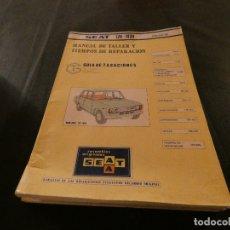 Coches y Motocicletas: MANUAL DE TIEMPOS DE TALLER Y TIEMPOS DE REPARACION SEAT 124-1430 ENERO 80. Lote 177208174
