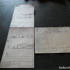 Coches y Motocicletas: 2 PLANTILLAS VERIFICACION CARROCERIA SEAT 124 EN FABIRCA AÑO 1977. Lote 177288747