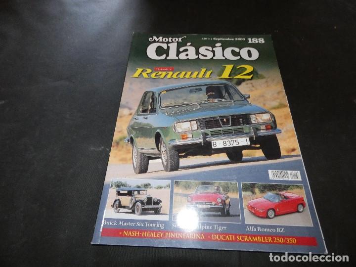 REVISTA MOTOR CLASICO NUMERO 188 RENAULT 12 (Coches y Motocicletas - Revistas de Motos y Motocicletas)