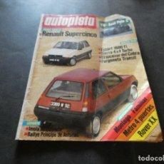 Coches y Motocicletas: REVISTA AUTOPISTA 1315 29 SPETIEMPRE DE 1984 RENAULT SUPERCINCO. Lote 177294107