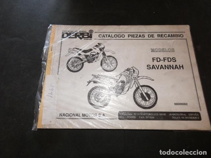 PRECIOSO CATALOGO PIEZAS RECAMBIO DERBI SAVANNAH 340 GR 1991 (Coches y Motocicletas - Revistas de Motos y Motocicletas)