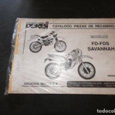 Coches y Motocicletas: PRECIOSO CATALOGO PIEZAS RECAMBIO DERBI SAVANNAH 340 GR 1991. Lote 177427482