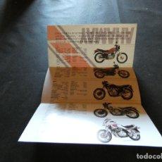 Coches y Motocicletas: HOJA PUBLICIDAD YAMAHA AÑOS 80 QUE SE ABRE EN 3. Lote 177427593