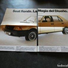 Coches y Motocicletas: FOLLETO DESPLEGABLE DEL SEAT RONDA BUEN TAMAÑO 8 PAG. Lote 177427867