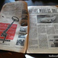 Coches y Motocicletas: HACER OFERTA ENORME REVISTA SECTOR AUTOMOVIL FERIA OFICIAL DE MUESTRAS BARCELONA 1967 NO TAPAS. Lote 177428319