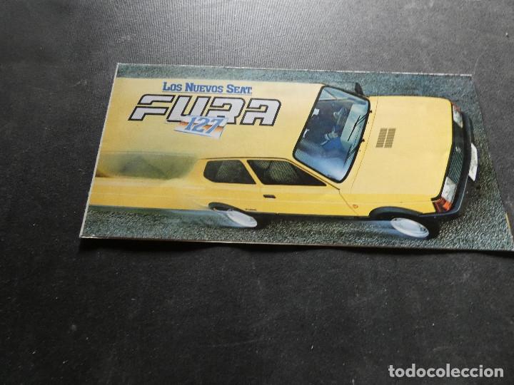 PRECIOSO FOLLETO DESPLEGABLE PUBLICIDAD SEAT 127 FURA (Coches y Motocicletas - Revistas de Motos y Motocicletas)