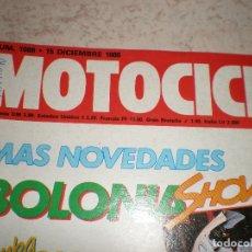Coches y Motocicletas: MOTOCICLISMO,NUMERO 1086,DICIEMBRE DEL 1988. Lote 178688538
