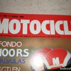 Coches y Motocicletas: MOTOCICLISMO,NUMERO 1154,ABRIL DEL 1990.. Lote 178688842