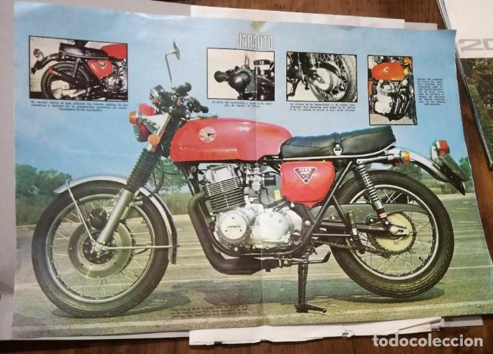 POSTER DE LA REVISTA VELOCIDAD. JAPAUTO LA SUPERBIKE FRANCESA (Coches y Motocicletas - Revistas de Motos y Motocicletas)