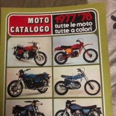 Coches y Motocicletas: MOTO CATALOGO INTERNAZIONALE 1977-78. Lote 178981293