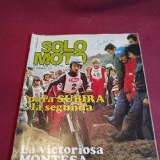Carros e motociclos: REVISTA SOLO MOTO NÚMERO 76 - 1977. Lote 179241565